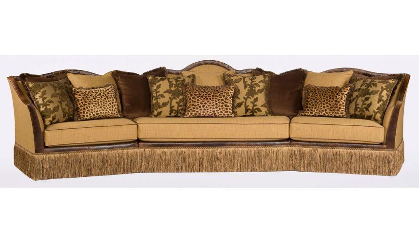 Luxury Leather & Upholstered Furniture Large Upholstered Leather Sofa