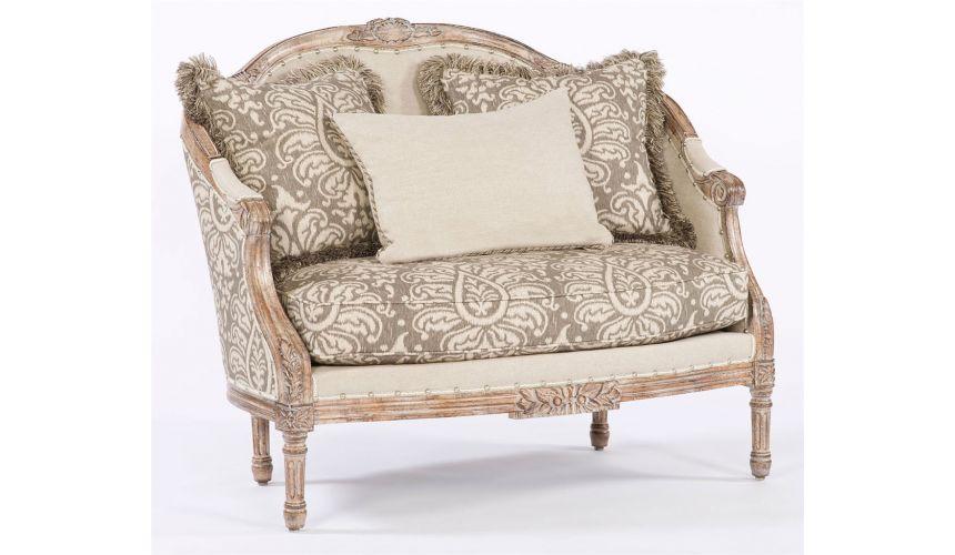 Luxury Leather & Upholstered Furniture Elegantly styled settee