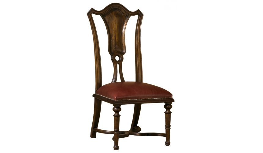Dining Chairs Queen Anne style splat back dining chair. Luxury furniture. 443