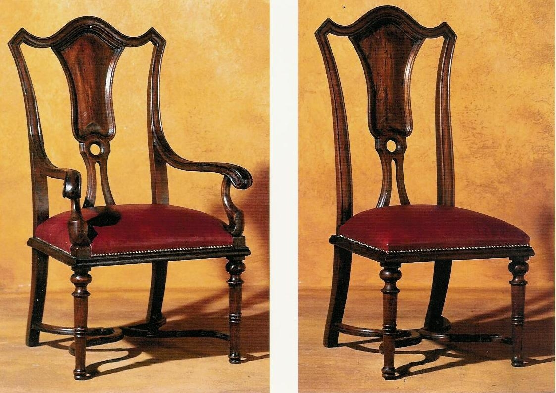 Queen Anne style splat back dining chair. Luxury furniture. 443