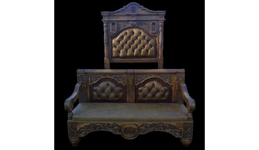 BEDS - Queen, King & California King Sizes Ranchers bed. High style western furniture. The best in cowboy decor.
