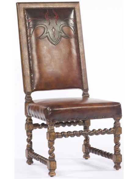 Dining Chairs Decorative Leather Nail trim Chair