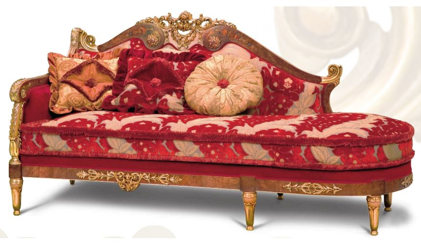Luxury Leather & Upholstered Furniture Chaise High Style Luxury Furniture. Ravishing Red