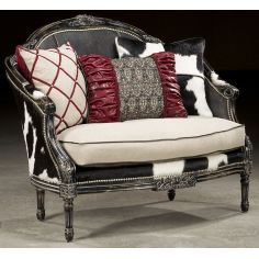 1 Rodeo chic settee, Luxury fine home furnishings