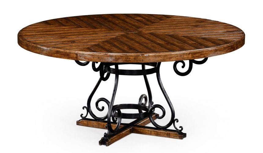 Dining Chairs Round centre or dining table. planked top, rustic finish. 91