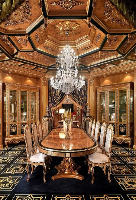 Luxury dining furniture. Exquisite Boulle marquetry work. European made. Boulle is a traditional marquetry technique named after a cabinetmaker for King Louis XIV of France