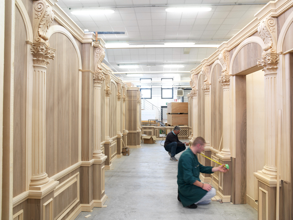 building architectural library panels