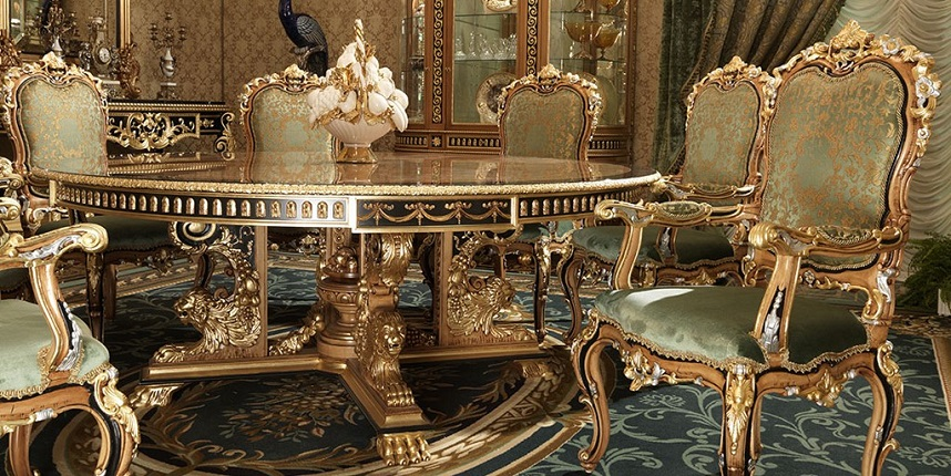 Exquisite Boulle marquetry furniture