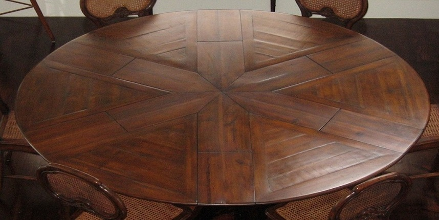 ROUND TO ROUND EXTENDING DINING TABLES